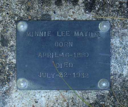 MATHIS, MINNIE LEE - Faulkner County, Arkansas | MINNIE LEE MATHIS - Arkansas Gravestone Photos