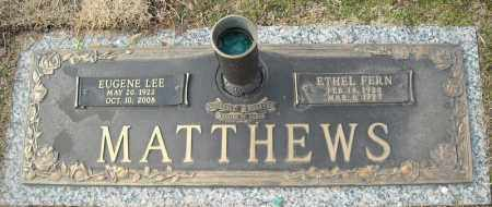 MATTHEWS, EUGENE LEE - Faulkner County, Arkansas | EUGENE LEE MATTHEWS - Arkansas Gravestone Photos