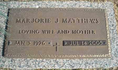 MATTHEWS, MARJORIE J. - Faulkner County, Arkansas | MARJORIE J. MATTHEWS - Arkansas Gravestone Photos