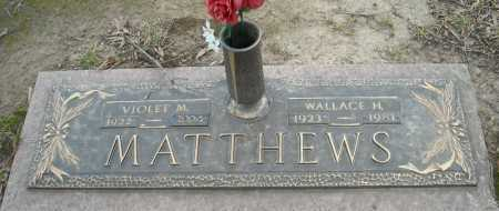 MATTHEWS, WALLACE H. - Faulkner County, Arkansas | WALLACE H. MATTHEWS - Arkansas Gravestone Photos