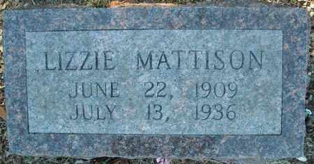 MATTISON, LIZZIE - Faulkner County, Arkansas | LIZZIE MATTISON - Arkansas Gravestone Photos