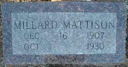 MATTISON, MILLARD - Faulkner County, Arkansas | MILLARD MATTISON - Arkansas Gravestone Photos