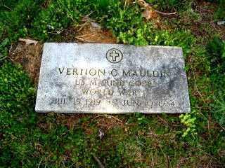 MAULDIN  (VETERAN WWII), VERNON CHARLES - Faulkner County, Arkansas | VERNON CHARLES MAULDIN  (VETERAN WWII) - Arkansas Gravestone Photos