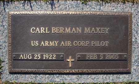 MAXEY (VETERAN), CARL BERMAN - Faulkner County, Arkansas | CARL BERMAN MAXEY (VETERAN) - Arkansas Gravestone Photos