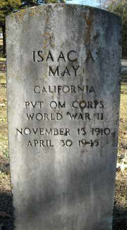 MAY  (VETERAN WWII), ISAAC A - Faulkner County, Arkansas   ISAAC A MAY  (VETERAN WWII) - Arkansas Gravestone Photos