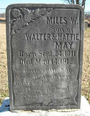 MAY, MILES W. - Faulkner County, Arkansas   MILES W. MAY - Arkansas Gravestone Photos