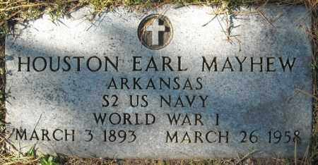 MAYHEW  (VETERAN WWI), HOUSTON EARL - Faulkner County, Arkansas | HOUSTON EARL MAYHEW  (VETERAN WWI) - Arkansas Gravestone Photos