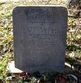 "MCALISTER, NANCY ELIZABETH ""LIZZIE"" - Faulkner County, Arkansas 