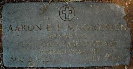 MCCAGHREN (VETERAN WWII), AARON D - Faulkner County, Arkansas | AARON D MCCAGHREN (VETERAN WWII) - Arkansas Gravestone Photos