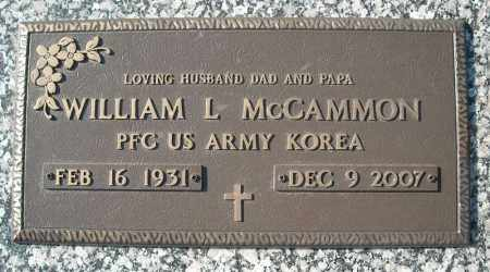 MCCAMMON (VETERAN KOR), WILLIAM L - Faulkner County, Arkansas | WILLIAM L MCCAMMON (VETERAN KOR) - Arkansas Gravestone Photos