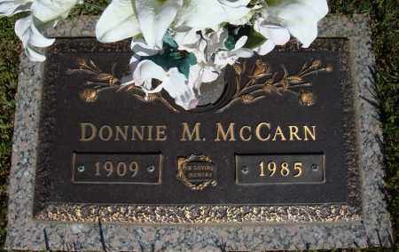 MCCARN, DONNIE M. - Faulkner County, Arkansas | DONNIE M. MCCARN - Arkansas Gravestone Photos
