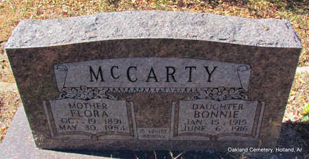 MCCARTY, FLORA - Faulkner County, Arkansas | FLORA MCCARTY - Arkansas Gravestone Photos