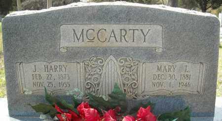 MCCARTY, J. HARRY - Faulkner County, Arkansas | J. HARRY MCCARTY - Arkansas Gravestone Photos