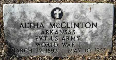MCCLINTON (VETERAN WWI), ALTHA - Faulkner County, Arkansas | ALTHA MCCLINTON (VETERAN WWI) - Arkansas Gravestone Photos