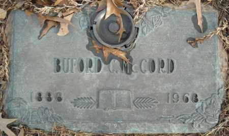 MCCORD, BUFORD C. - Faulkner County, Arkansas | BUFORD C. MCCORD - Arkansas Gravestone Photos