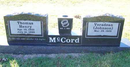 MCCORD, THOMAS HENRY - Faulkner County, Arkansas | THOMAS HENRY MCCORD - Arkansas Gravestone Photos