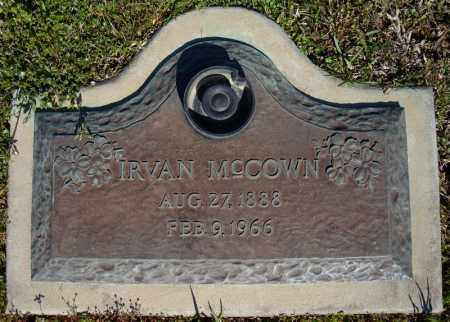 MCCOWN, IRVAN - Faulkner County, Arkansas | IRVAN MCCOWN - Arkansas Gravestone Photos