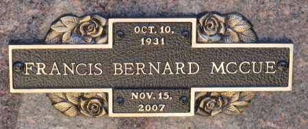MCCUE, FRANCIS BERNARD - Faulkner County, Arkansas | FRANCIS BERNARD MCCUE - Arkansas Gravestone Photos