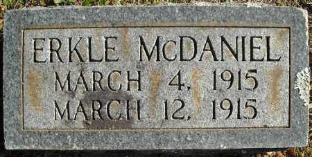 MCDANIEL, ERKLE - Faulkner County, Arkansas | ERKLE MCDANIEL - Arkansas Gravestone Photos