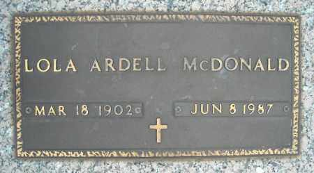 MCDONALD, LOLA - Faulkner County, Arkansas | LOLA MCDONALD - Arkansas Gravestone Photos