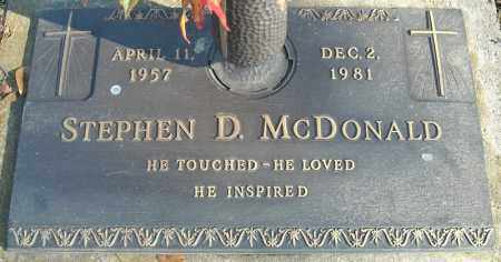 MCDONALD, STEPHEN D. - Faulkner County, Arkansas | STEPHEN D. MCDONALD - Arkansas Gravestone Photos