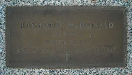 MCDONALD (VETERAN WWI), RAYMOND - Faulkner County, Arkansas | RAYMOND MCDONALD (VETERAN WWI) - Arkansas Gravestone Photos