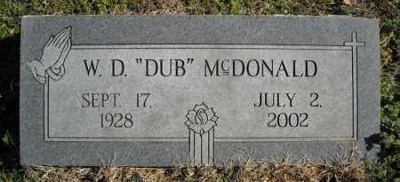 "MCDONALD, W.D. ""DUB"" - Faulkner County, Arkansas 