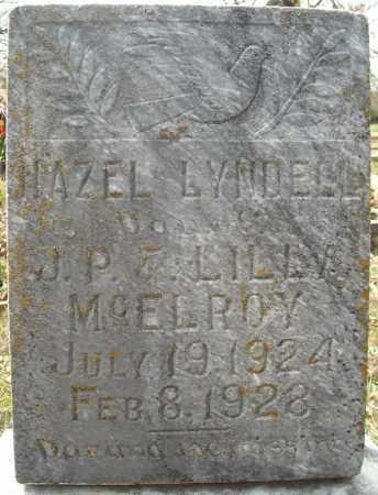 MCELROY, HAZEL LYNDELL - Faulkner County, Arkansas | HAZEL LYNDELL MCELROY - Arkansas Gravestone Photos