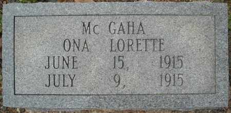 MCGAHA, ONA LORETTE - Faulkner County, Arkansas | ONA LORETTE MCGAHA - Arkansas Gravestone Photos