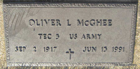 MCGHEE (VETERAN), OLIVER LEE - Faulkner County, Arkansas | OLIVER LEE MCGHEE (VETERAN) - Arkansas Gravestone Photos