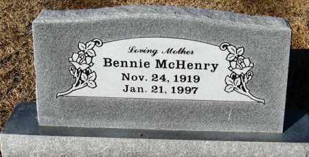 MCHENRY, BENNIE - Faulkner County, Arkansas | BENNIE MCHENRY - Arkansas Gravestone Photos