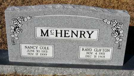 MCHENRY, RAYO CLIFTON - Faulkner County, Arkansas | RAYO CLIFTON MCHENRY - Arkansas Gravestone Photos