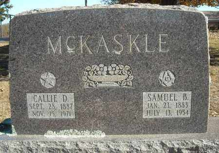 MCKASKLE, CALLIE D. - Faulkner County, Arkansas | CALLIE D. MCKASKLE - Arkansas Gravestone Photos