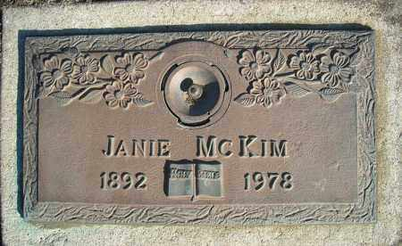 MCKIM, JANIE - Faulkner County, Arkansas | JANIE MCKIM - Arkansas Gravestone Photos