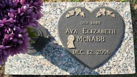 MCNABB, AYA ELIZABETH - Faulkner County, Arkansas | AYA ELIZABETH MCNABB - Arkansas Gravestone Photos