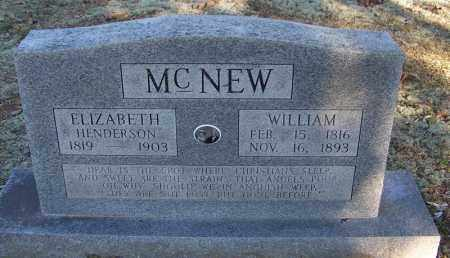 MCNEW, WILLIAM - Faulkner County, Arkansas | WILLIAM MCNEW - Arkansas Gravestone Photos