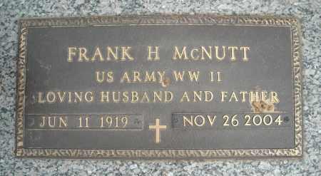 MCNUTT (VETERAN WWII), FRANK H - Faulkner County, Arkansas | FRANK H MCNUTT (VETERAN WWII) - Arkansas Gravestone Photos