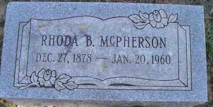 MCPHERSON, RHODA B. - Faulkner County, Arkansas | RHODA B. MCPHERSON - Arkansas Gravestone Photos