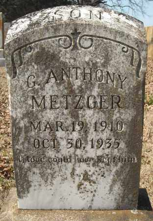 METZGER, G. ANTHONY - Faulkner County, Arkansas | G. ANTHONY METZGER - Arkansas Gravestone Photos