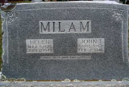 MILAM, JOHN T. - Faulkner County, Arkansas | JOHN T. MILAM - Arkansas Gravestone Photos