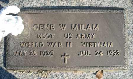 MILAM (VETERAN 2 WARS), GENE W - Faulkner County, Arkansas | GENE W MILAM (VETERAN 2 WARS) - Arkansas Gravestone Photos