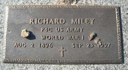 MILEY (VETERAN WWI), RICHARD - Faulkner County, Arkansas   RICHARD MILEY (VETERAN WWI) - Arkansas Gravestone Photos