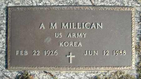 MILLICAN (VETERAN KOR), A M - Faulkner County, Arkansas | A M MILLICAN (VETERAN KOR) - Arkansas Gravestone Photos