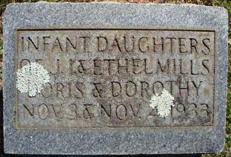 MILLS, INFANT DAUGHTERS (1933 & 1933) - Faulkner County, Arkansas | INFANT DAUGHTERS (1933 & 1933) MILLS - Arkansas Gravestone Photos