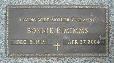 MIMMS, BONNIE B. - Faulkner County, Arkansas | BONNIE B. MIMMS - Arkansas Gravestone Photos