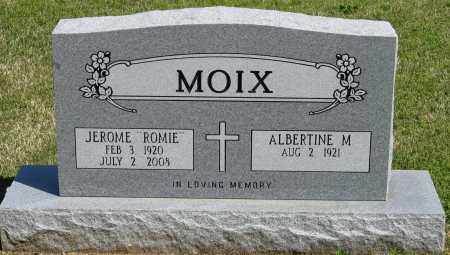 "MOIX, JEROME ""ROMIE"" - Faulkner County, Arkansas 