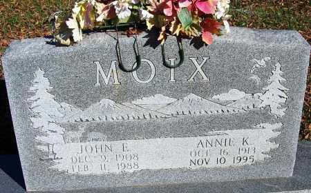 MOIX, JOHN E - Faulkner County, Arkansas | JOHN E MOIX - Arkansas Gravestone Photos