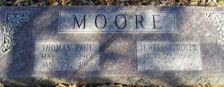 FIDDLER MOORE, JEWELL - Faulkner County, Arkansas | JEWELL FIDDLER MOORE - Arkansas Gravestone Photos
