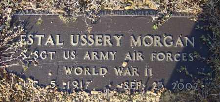 MORGAN (VETERAN WWII), ESTAL USSERY - Faulkner County, Arkansas | ESTAL USSERY MORGAN (VETERAN WWII) - Arkansas Gravestone Photos