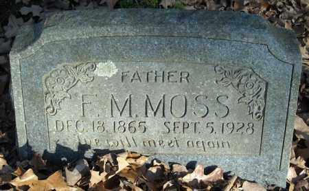 MOSS, F.M. - Faulkner County, Arkansas | F.M. MOSS - Arkansas Gravestone Photos